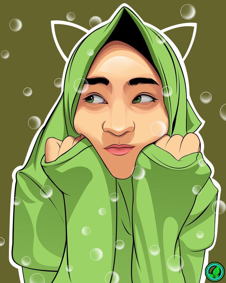 Green Hijab Girl in Vexel