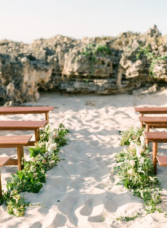 Organic beach wedding ceremony: http://www.stylemepretty.com/australia-weddings/2016/02/23/organic-seaside-australian-inspiration-shoot/ | Photography: Connie Whitlock - http://conniewhitlockphoto.com/: