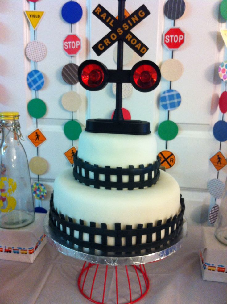 Railroad Crossing Cake Simple Cake For A Busy Party