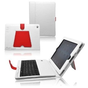 ionic bluetooth keyboard tablet stand leather case for apple ipad 2 rh pinterest com