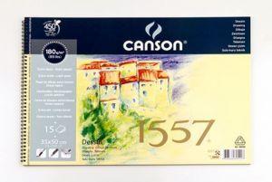 Canson 1557 Dessin Resim Ve Çizim Defteri 180 gr. 35x50 cm. 15 Sayfa