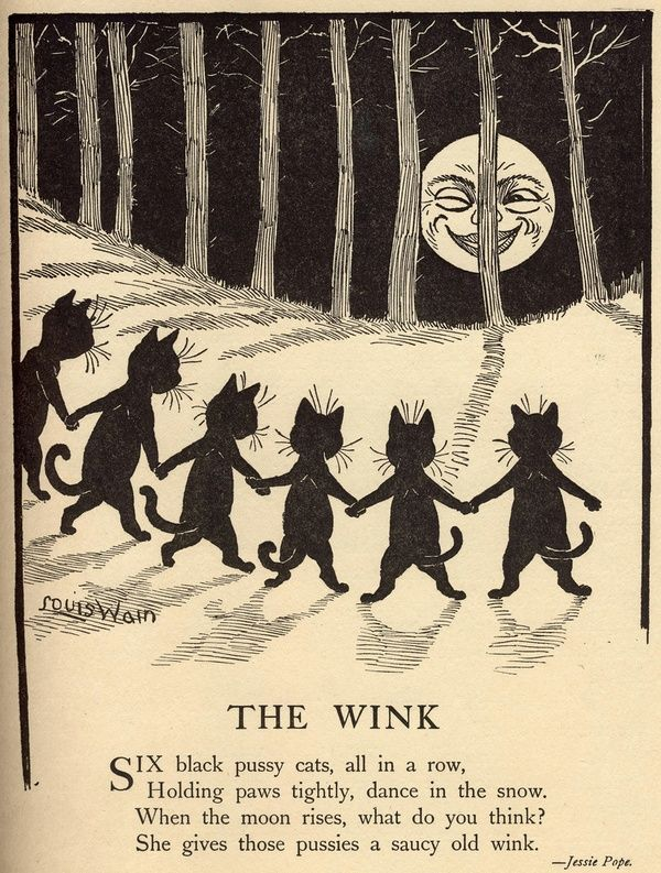 The Wink by Jessie Pope : illustration by Louis Wain