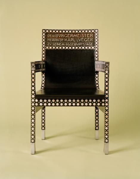 on-chairs:    Otto Wagner Chair Design for Dr. Karl Lueger 1904 - Rosewood & Mother of Pearl