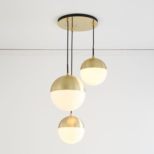 Rejuvenation Cedar + Moss Chandelier - 3 Light | west elm ...