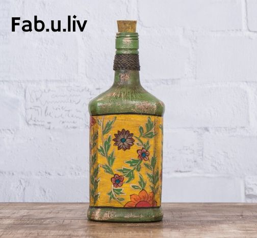 Classy and elegant, this Vintage Glass Bottle, which has been finely crafted from recycled raw material, will leave you mesmerized -- https://goo.gl/p88wnM