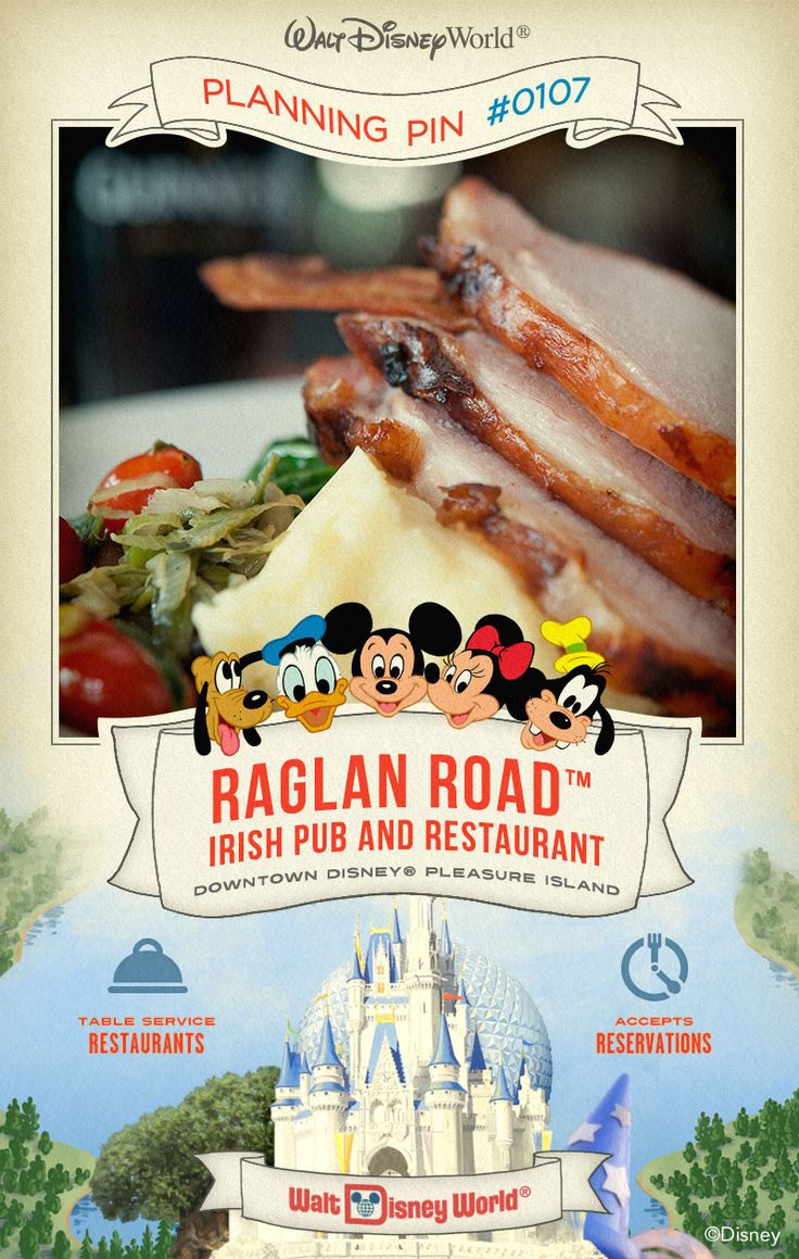 Walt Disney World Planning Pins: Spirit inside this authentic Irish pub and indulge your tastes in hearty meals, cold pints and nightly entertainment.