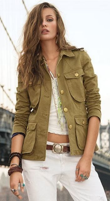 Ralph Lauren Denim and Supply/would love the jacket to be a darker olive, but love the look of the entire outfit.