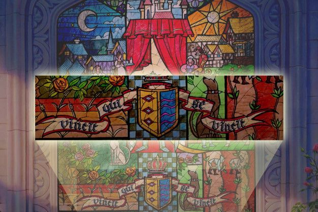 "The Latin phrase ""Vincit qui se vincit,"" which appears on the stained glass at the beginning of the movie, is basically the moral of the story: It means ""He conquers who conquers himself."" 