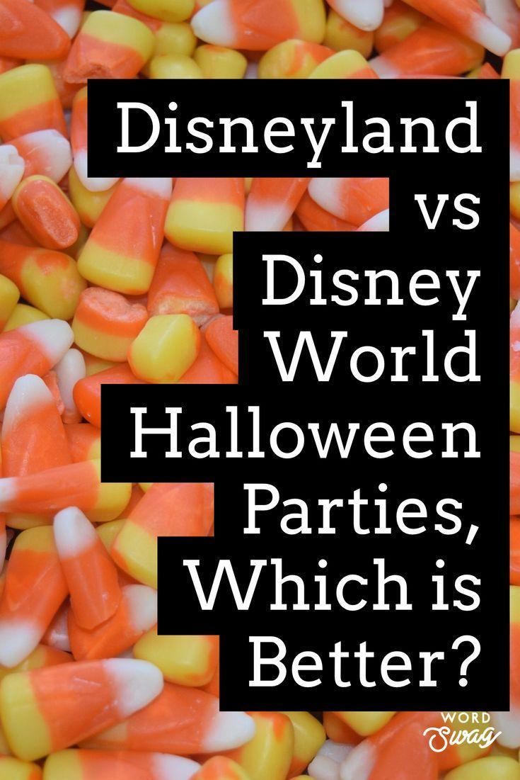 Disney's Not So Scary Halloween Party Disney World Vs