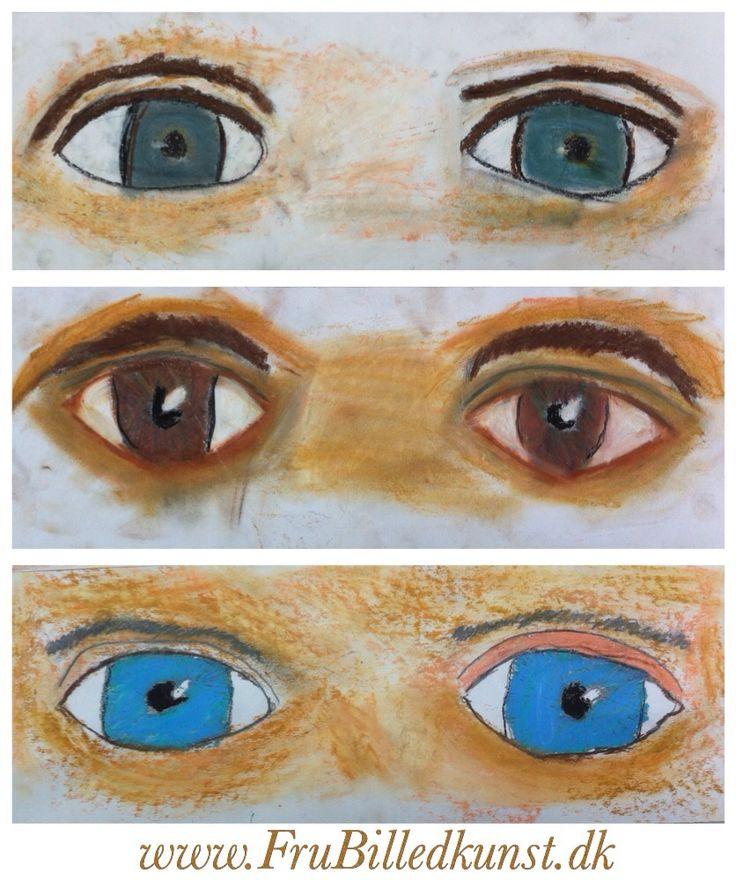 Jeg elsker at male selvportrætter med børn! Jeg nyder at se, hvordan deres øjne stråler, når man ser dem i øjnene og nævner alle de smukke farver netop dette barns øjne har. Ingen har bare blå elle...