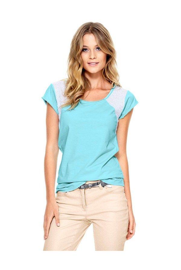 Tricou,+albastru+aqua