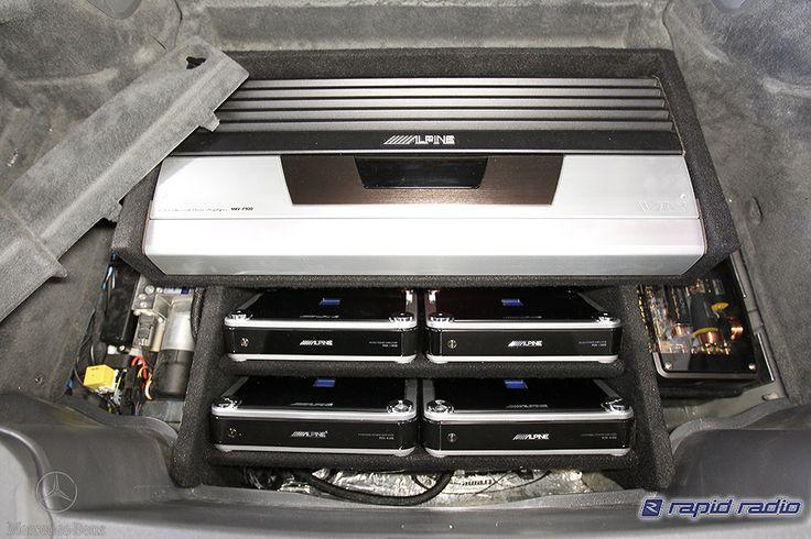 Alpine amplifiers in an F1 audio installation