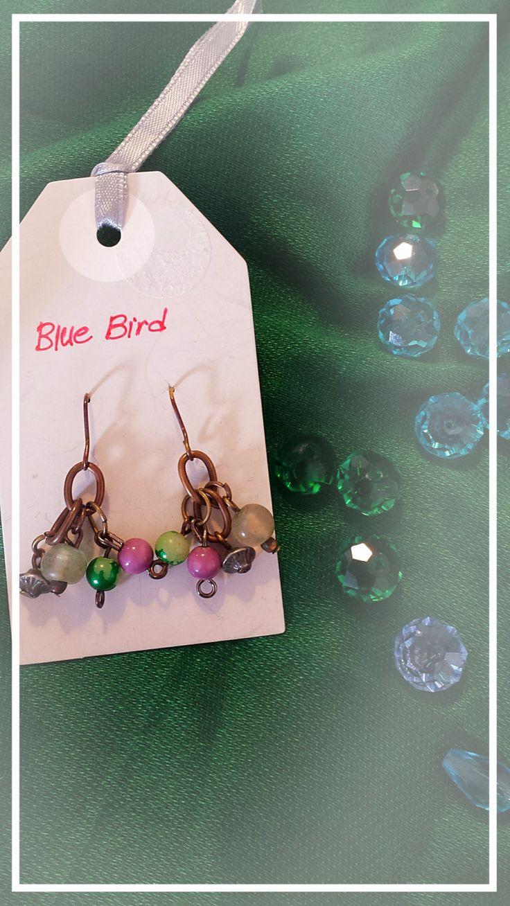 Fancy colorful branch earrings by BlueBirdjewel on Etsy