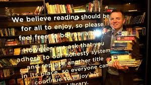 """I was very pleased to see that this was happening in Melbourne Central. There are different variations on this """"take a book leave a book"""" free library idea all around the world and I will be trying to share some of those with you. Now if I can only remember the name of the first one I saw....."""