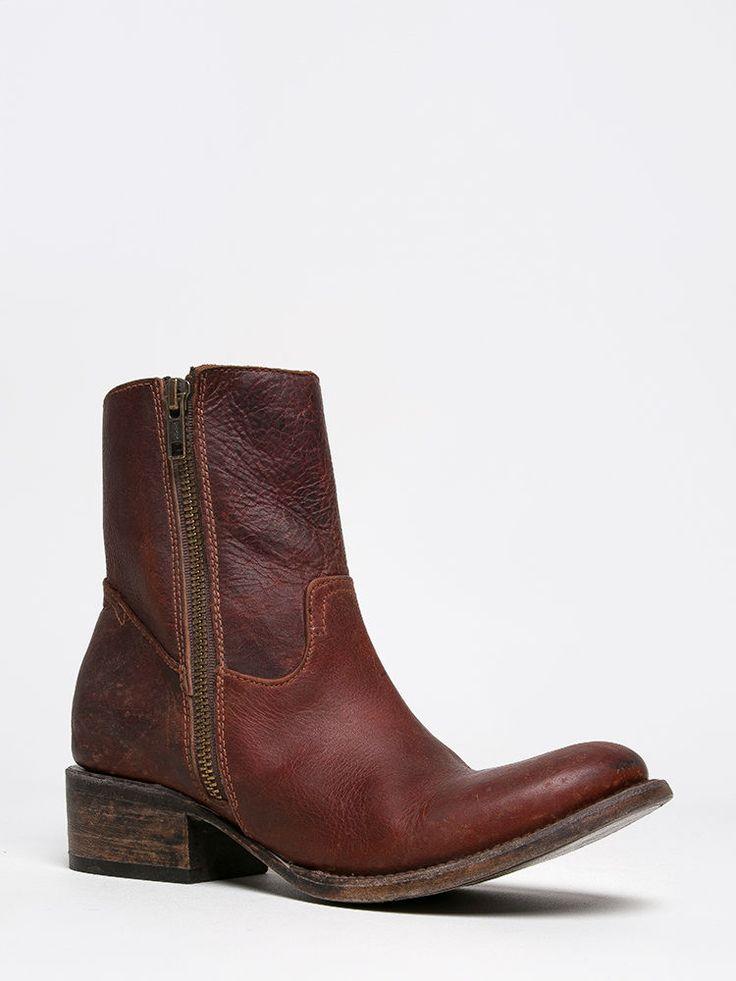 NEW FREEBIRD BY STEVEN AUSTIN WOMEN Western Distress Ankle Booties Brown sz Rust #FreebirdbySteven #CowboyWestern