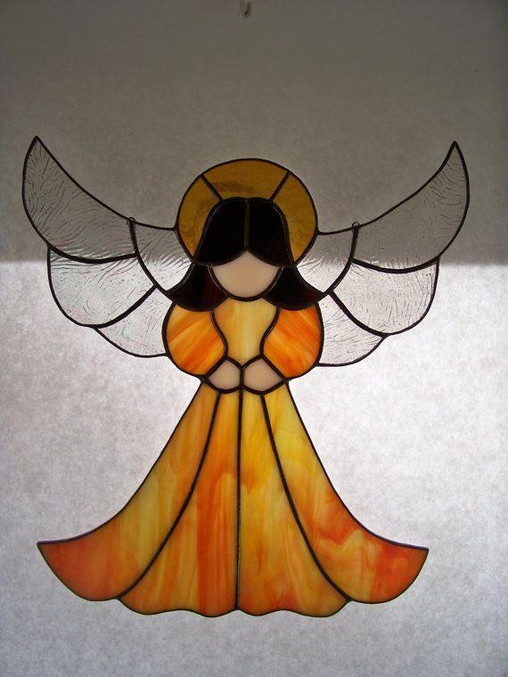 Grace Stained Glass Angel by wistfulfancy on Etsy, $45.00