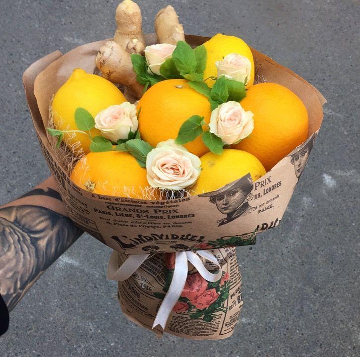 Учусь делать букеты,букетик из цитрусовых с имбирём и цвелями в подарок на свадьбу #kubikarubika