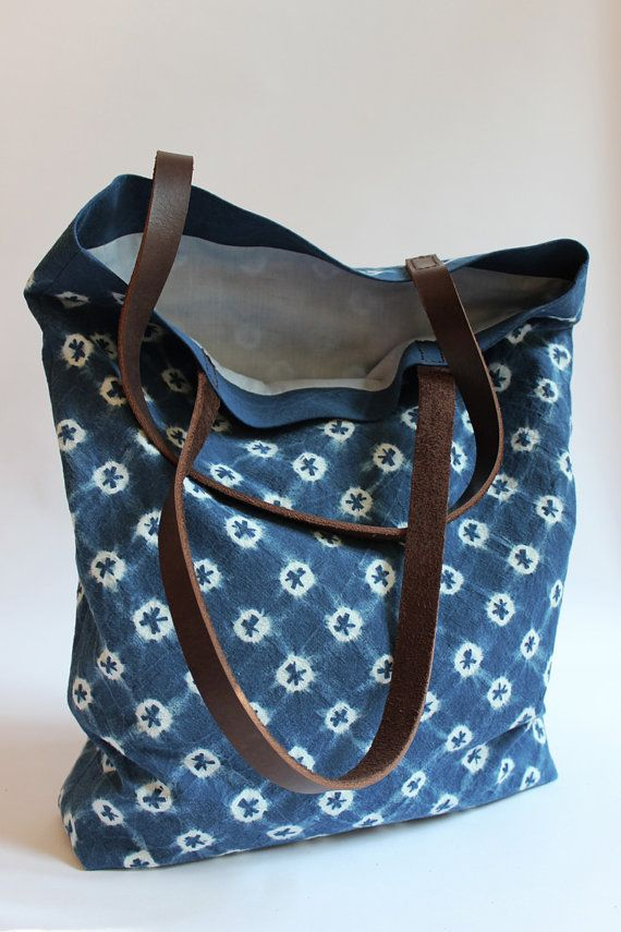 Hand Dyed Organic Cotton Tote Bag Canvas Tote with by Rejell