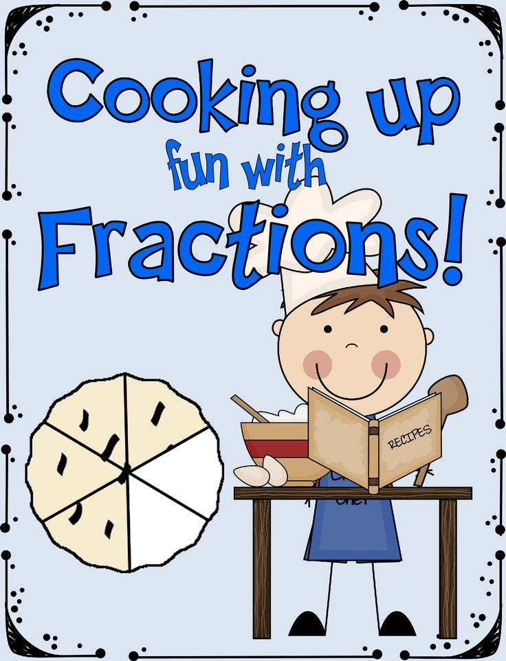 Cooking Up Fun With Fractions Are Presented As Bars Circles And On A