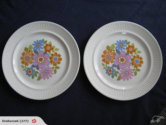 Kelston / Crown Lynn Apollo floral plates in Springsong