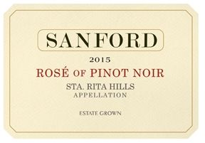 Sanford 2015 Estate Grown Rosé of Pinot Noir (Sta. Rita Hills) Rating and Review | Wine Enthusiast Magazine