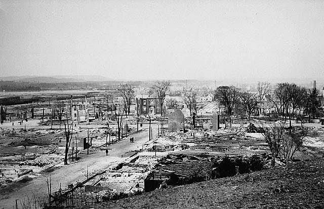 Lebreton Flats after the Great Fire of 1900, Ottawa, Ontario.