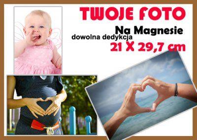 NOWOŚĆ!!! TWOJA KOMPOZYCJA Magnes ZDJĘCIE A4  21 x 29,7 cm