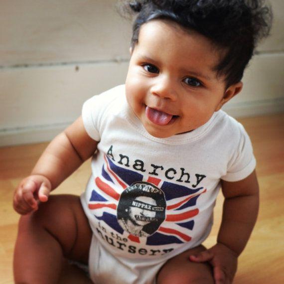 10e7e814ed69 Punk baby Anarchy in the Nursery baby onesie. Alternative infant ...