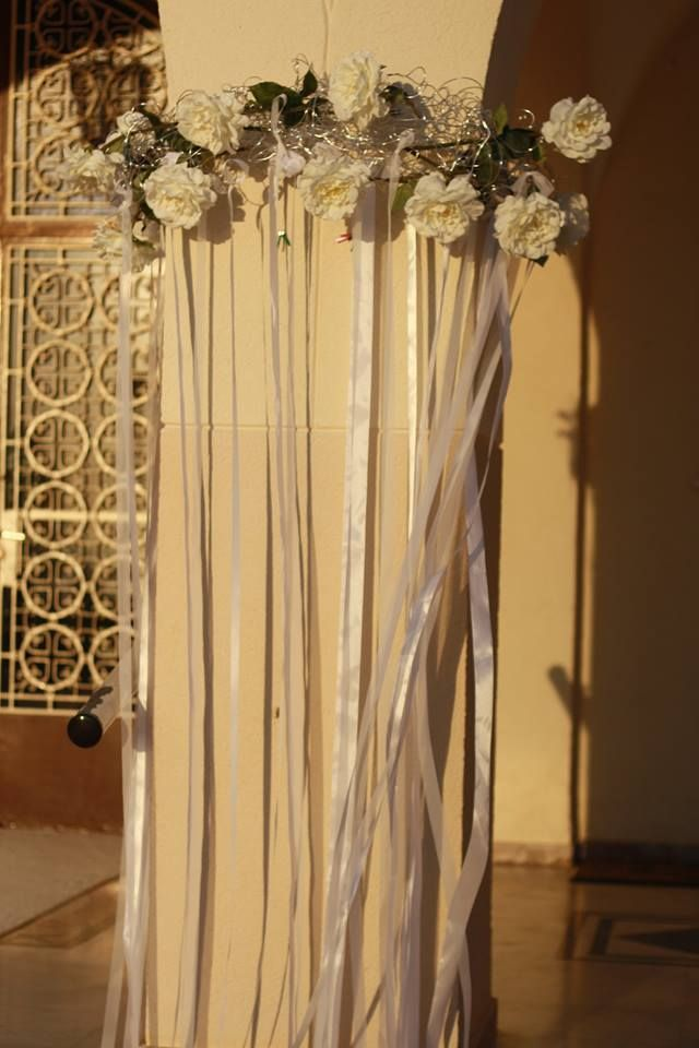 we make with wire and roses a new style for column church,!!