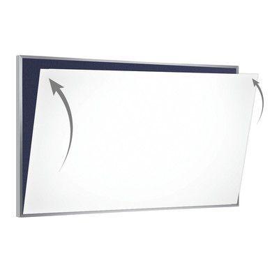 Ghent 28 Gauge Porcelain Magnetic Whiteboard Sheet/Skin Size: 4' x 12'