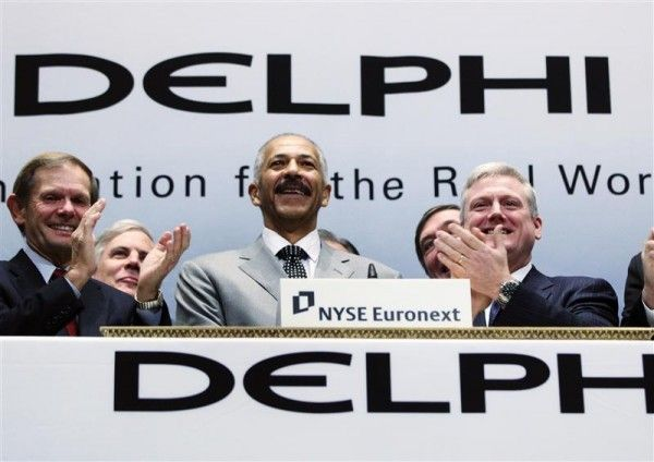 Delphi Automotive reports 2012 Q1 revenues of $4.1 billion. The global vehicle components manufacturer supplies electrical and electronic, powertrain, safety and thermal technology solutions to commercial vehicle and global automotive markets. Delphi Automotive reports 2012 Q1 net income of $342 million.