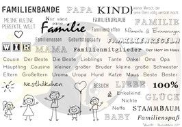 Stempel-Set Familienbande