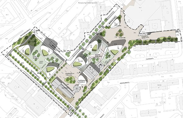 Mika Saarikangas and Mikko Siltanen receives Honourable mention in Kouvola city center architectural ideas competition