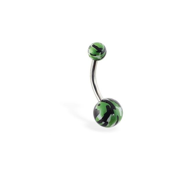 Camo print navel ring Unique Navel Rings ($2.99) ❤ liked on Polyvore featuring jewelry, rings, belly button rings, navel rings, camouflage belly ring, camo belly rings, camouflage rings and camouflage belly button rings