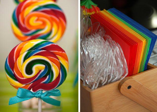 оформляем детский стол тема радуга