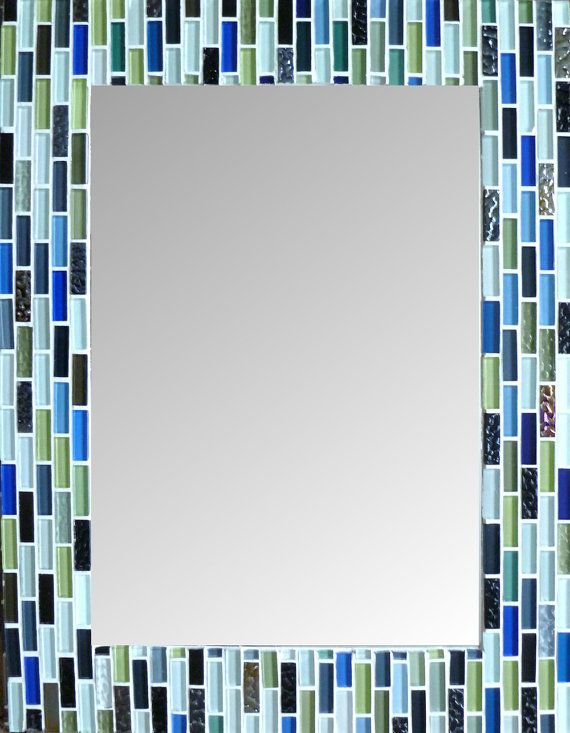 MIRROR MOSAIC Rectangular or Square  Wall  Mirror by SunAndCraft, $159.99