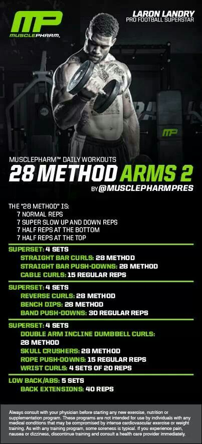 MusclePharm 28 Method Arms 2
