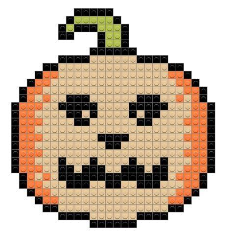 Jack O Lantern Pixel Art Cross Stitch Art