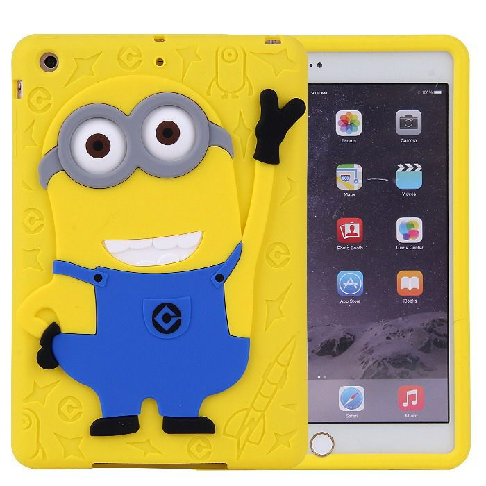 Silicone cover with cartoon picture of Minion for