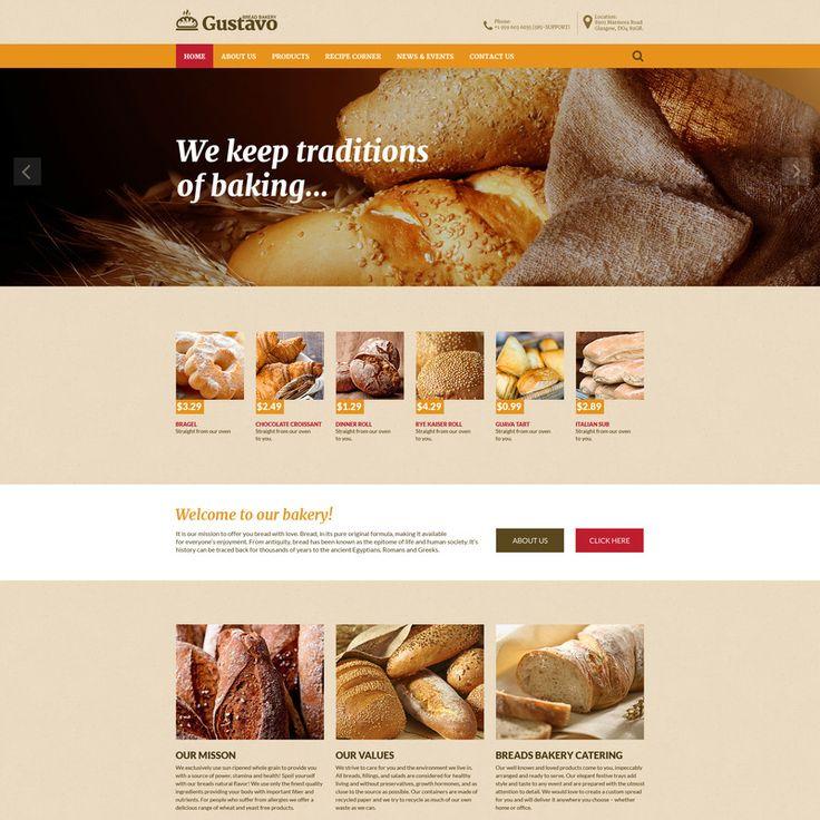 Bakery Bootstrap Website Template Small Screenshot 57