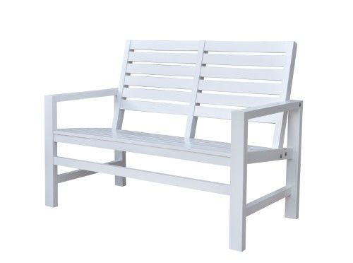 Contemporary Garden Bench 40 In White 4224wt Vv Outdoor