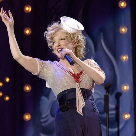 Bette Midler- The Divine Miss M.: singer, actress, comedienne.  Saw her live a few years ago.  This lady is a class act and knows how to put on a show!