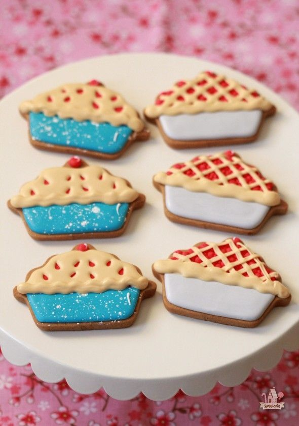 Lovely and cute Cherry Pie Decorated Cookies on @Sweetopia ~ Marian Poirier ~ Marian Poirier