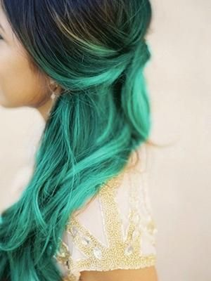 DIY Halloween Hair: DIY Halloween Hairstyles : Green with envy