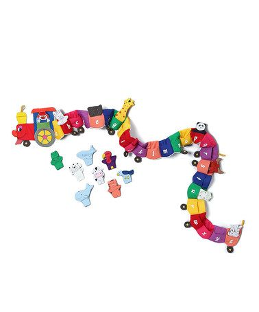 Another great find on #zulily! 'ABC' Finger Puppet Train & Holder #zulilyfinds