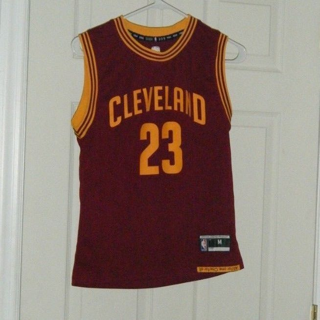 save off fc585 6ebb5 Lebron James Cleveland Cavs Adidas NBA Retro #23 Basketball ...