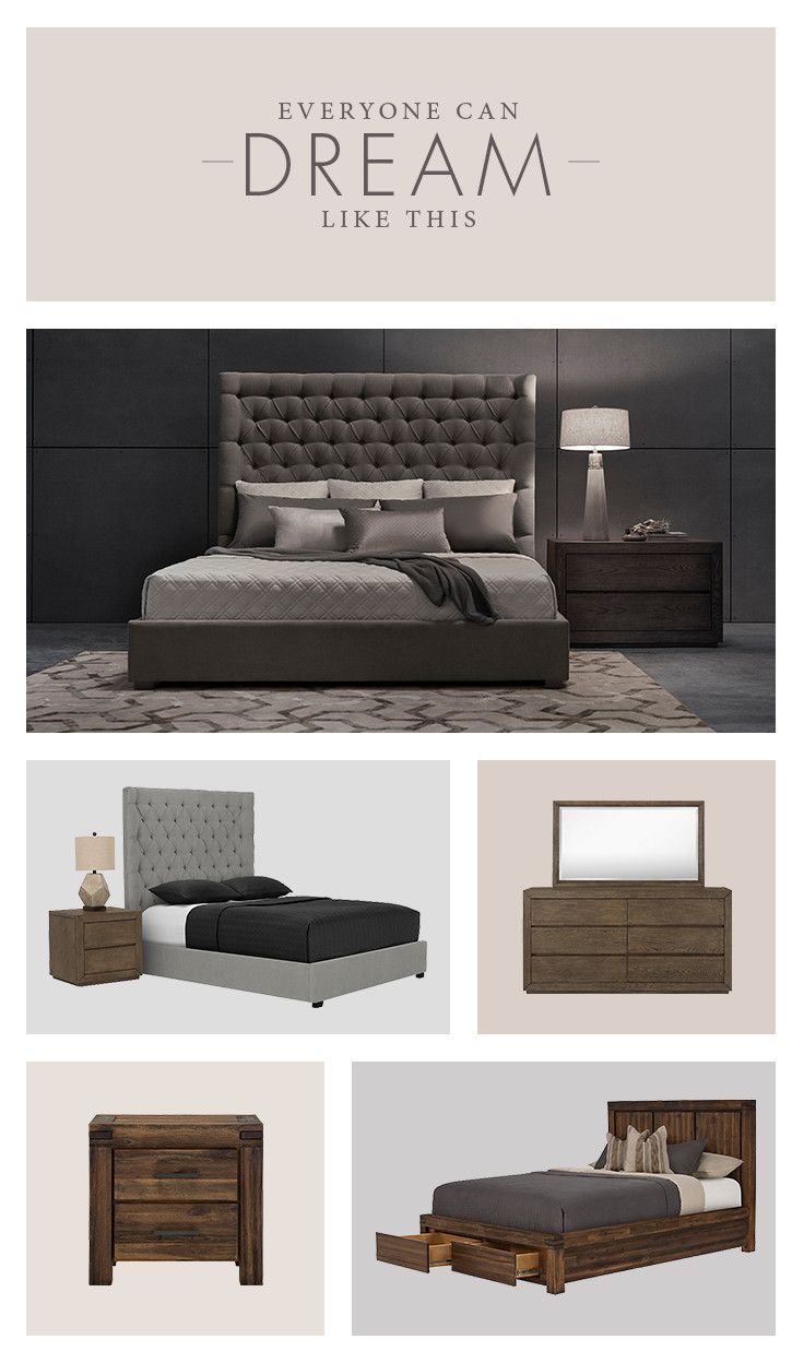 With beautiful bedroom pieces that come together like a dream, everyone can sleep like this!