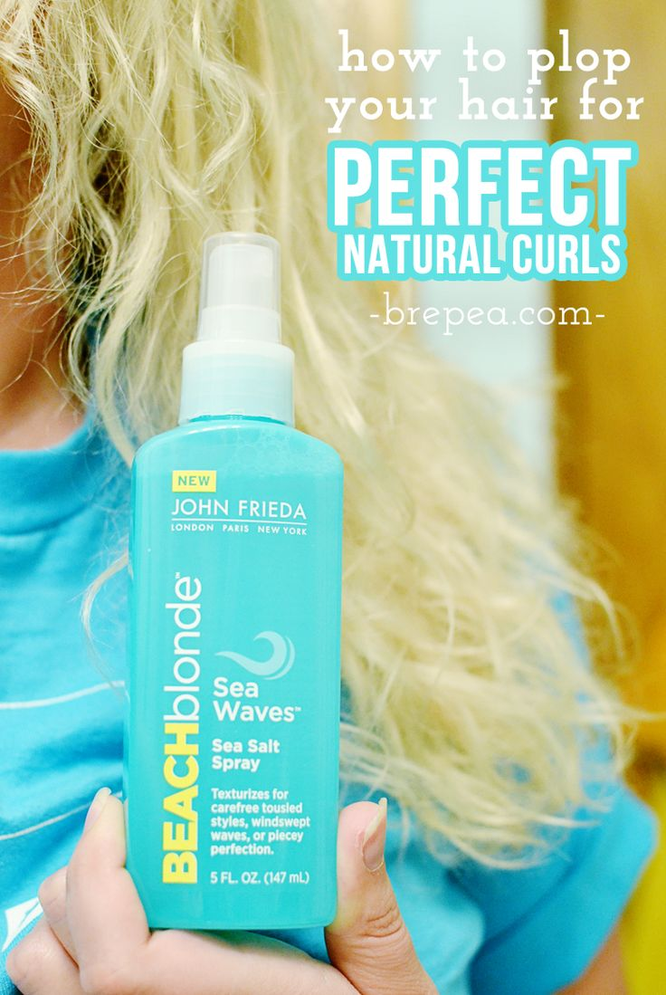 Learn how to do this super easy curly hair style: plopping! How to plop your hair is so quick and easy, and you'll end up with gorgeous natural curls. #BeBeachBlonde #ad