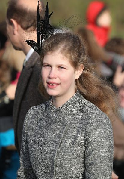 Prince Philip, Prince Charles, Duchess Camilla of Cornwall, Prince Harry, Princess Anne, Prince Edward, Earl of Wessex, Countess Sophie of Wessex, Lady Louise Windsor, James, Viscount Severn, Princess Eugenie, Princess Beatrice, Autumn Patricia Phillips, Peter Phillips, Isla Phillips and Savannah Phillips attend a Christmas Day church service at Sandringham on December 25, 2016 in King's Lynn, England