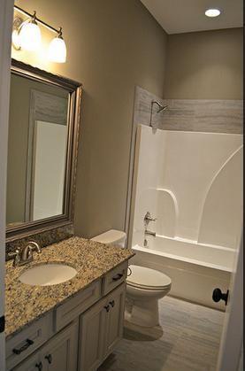 tile at top of fiberglass shower